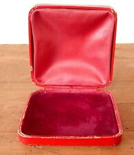 Vintage Antique Jewellery Box Red Velvet - Bracelet Necklace Brooch