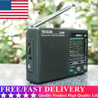 TECSUN R-909 Portable Radio FM MW(AM) SW(Shortwave) 9 Bands World Receiver US