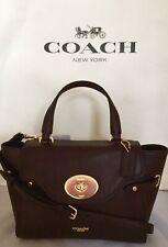 COACH F32106 Bubble Leather Blake Flap Carryall Satchel Bag IM/Oxblood 1 NWT