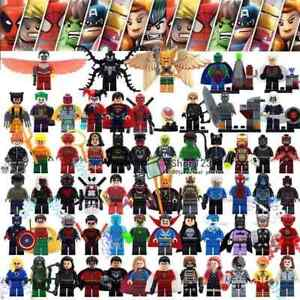 MARVEL AVENGERS DC COMICS Minifigures LEGO Batman Superman Hulk Thor