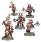 AS10 Warhammer Age Of Sigmar Chaos - 5 x Guerriers De Sang Blood Warriors