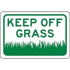 """Keep Off Grass Aluminum Metal Sign 12"""" x 8"""" - Will Not Rust"""