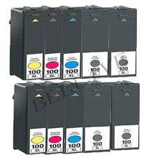 10 CARTUCCE 100XL STAMPANTE PER LEXMARK S815 Genesis, Pro805, Pro705, Pro205,