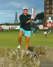 Stacy Lewis signed Lpga 8x10 British Open Trophy photo with Coa