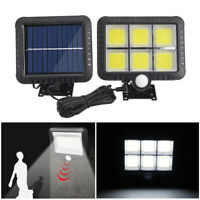 120 LED Solar Powered PIR Motion Sensor Garden Wall Lights Security Outdoor 2020