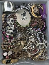 8lbs Estate Junk Drawer Vintage To Now Jewelry Lot Craft