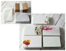 50 x Florist Flower Message Cards Sympathy Baby Happy Birthday Envelopes