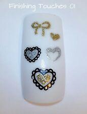 Nail Sticker- Silver Glitter Heart #117 BLE899D Transfer Children Valentine