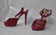"Colin Stuart twisted strap red/pink hi-heel sandals - Size 11, w/6"" heel - New"