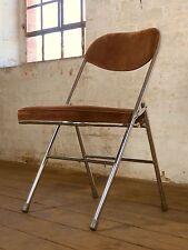Mid Century Chrom Kord Klappstuhl Stuhl Vintage Dinning Chair 60er 70er A