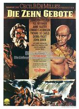 """i dieci comandamenti"" film manifesto Charlton Heston Yul Brynner Anne Baxter Paget m61"