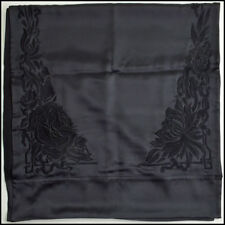 RDC8827 Authentic Cartier Black Embroidered & Beaded Floral Silk Shawl