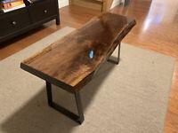 Live Edge Black Walnut Coffee Table With Epoxy Inlay