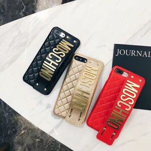 For iPhone X Moschino grip strap cover case with retail packaging