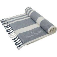 BNWT HENRI BENDEL blue and white striped Terry Towel RARE