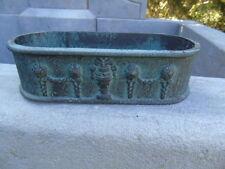 jardinière en fonte pat bronze avec motifs ...  superbe ! , pot , vasque .