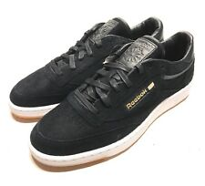 sale retailer 76b1f 9122e Reebok x Barneys New York Sole Series Mens Club C 85 Black Suede Shoes Size  11.5