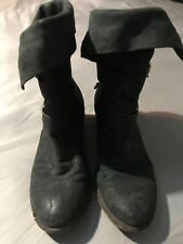 e5b489e6e97 Donald J Pliner Womens dark Grey Leather moto Boots Shoes size 6 1 2 M