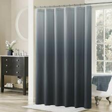 Gray Ombre Elegant Modern Farmhouse Classy Waterproof Fabric Shower Curtain