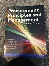 Procurement, Principles & Management by David Jessop, David Jones, Peter Baily,