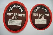 PAIR OF MINT WATNEY'S LONDON HAMMERTON NUT BROWN ALE BREWERY BOTTLE LABELS