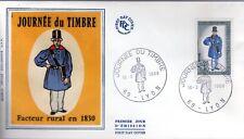 1549+ FDC  ENVELOPPE 1er JOUR SUR  SOIE  JOURNEE DU TIMBRE