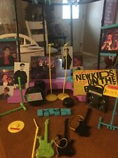 Nkotb Large Lot (28) Including 9 Dolls, Books, Buttons , Puzzles And Stage Euc