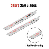 2 x Genuine Bosch S1025BF 200mm Reciprocating Sabre Saw Blades for Metal Cutting