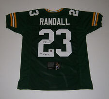 PACKERS Damarious Randall signed custom green jersey w/ 1st Rd Pick COA AUTO