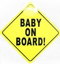Baby on Board Sign Child Vehicle Window Safety Sticker Mothercare Strong Plastic