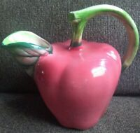 Ceramic Pitcher shape as a Apple Made in Italy for William Sonoma Verigated