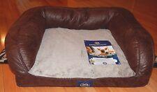 "New listing Serta Dog Bed Orthopedic Plush Pillow Mini Coach Perfect Sleeper New 28x22"""