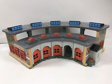 Thomas the Train Tidmouth Engine Shed Deluxe Wood Roundhouse Station with Sounds