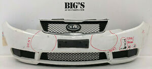 2010-2013 KIA FORTE FRONT BUMPER W/ GRILLES USED OEM #826665