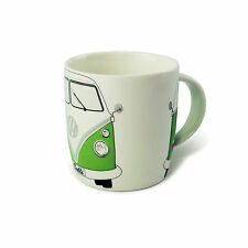 T1 Camper Bus Coffee Mug Cup Green Volkswagen VW Collection by BRISA BUTA09