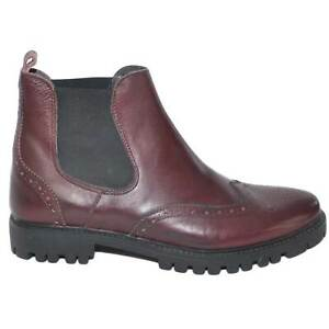 Beatles scarpe uomo in vera pelle bordeaux stile inglese lavorato e ricami fondo