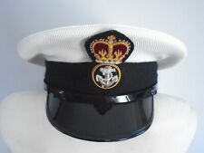 More details for royal navy mens petty officer cap with badge size 60cm genuine rn issue