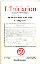 REVUE. L INITIATION Cahiers de Documentation Ésotérique. 51° ANNEE. N°1. 1978
