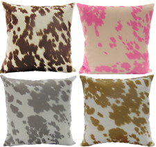 "Decorative Cow Hide Suede Velvet pillow (set of 2) 18""x18""  INSERT INCLUDED"