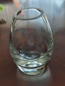 Holmegaard Cocoon Vase Klar, 16 cm Gebraucht.