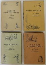A.A. MILNE & ERNEST SHEPARD (illus) The Pooh Books Set of Four FIRST UK EDITION