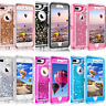 For iPhone 8 Plus 6S 7  Plus Glitter Liquid Clear Clip Fits OtterBox Defender