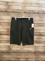 Volcom Mens V Monty Stretch Solid Chino Shorts Flat Front Size 30 New NWT Gray