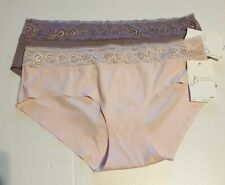 2 NEW JESSICA SIMPSON MICROFIBER and LACE HIPSTERS PANTIES Medium M