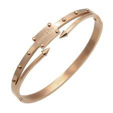 Mens Womens Stainless Steel Arrows Style Screw Nut Nail Bangle Bracelet + Box