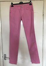 GAS, girovita 27, gamba 34, rosa Dritto Denim jeans, nuovo senza etichette, 97% COTONE