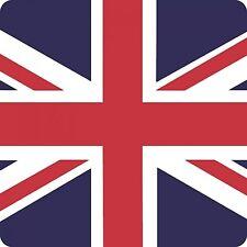 UNION JACK COASTER Single design 10cm Retro Cork Drinks Mat/Great Britain/UK