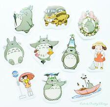 ❤ SALE ❤ Studio Ghibli Totoro Sticker Flakes 10pcs Kawaii Craft Scrapbook Cards