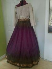 Renaissance Gypsy Skirt - Purple / Brown Voile