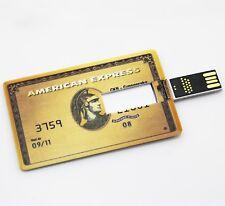 American Express bank gold credit card 16GB USB 2.0 flash drive memory stick